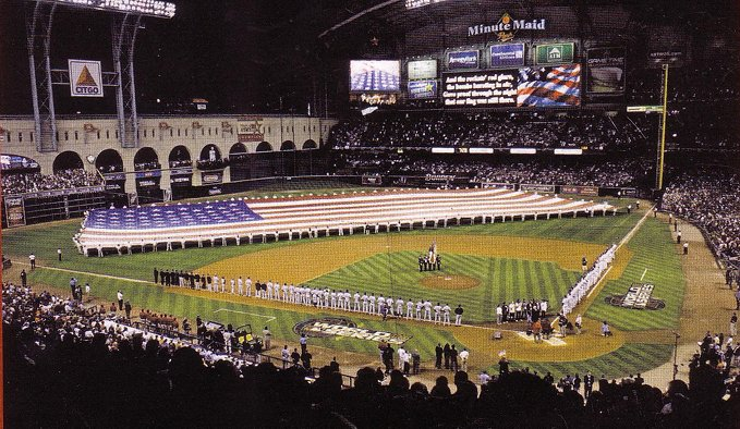 The Houston Astros finally, finally , finally host a World Series Game, October 25, 2005